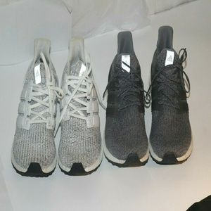 2 Pairs of men's Adidas Ultra boost Sneakers  10.5